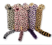 3D Plush Tail Leopard With Tail TPU Case Phone Cover Skin Fo...