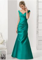 Style 2015 Handsome Mermaid Off the Shoulder Ruched bodice W...