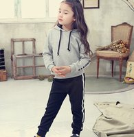 2016 Spring Autumn Girls Letters Hoodies Pullover Tops Pants...