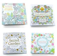 Secret jardim adulto descompressão Inglês cor pintada à mão em livro para colorir Enchanted floresta crianças pintura livros 1677