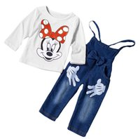 2016 Spring Autumn Children Clothing 2PCS Sets Girls Mickey ...