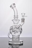 2016 Date de fumer pipe en verre Bongs Oil Rigs Glass Design Eggosphere combo de balle plate-forme avec fab