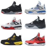 2016 air Cheap retro 4 men Basketball shoes Fear Cement Blac...