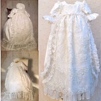 Gorgeous Baby Christening Gowns Without Hat Jewel Neckline B...