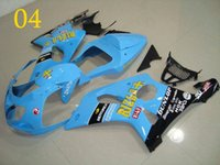 Race Fairing GSXR1000 2000 2001 2002 00 01 02 Blue BLACK DEC...