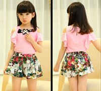 2015 Girls Summer new Korean fashion floral SHIRT BLOUSE TOP...