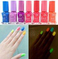 Luminous nail polish Candy Colors Peel Off Liquid nail art T...