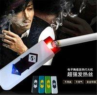 USB Электронная аккумуляторная беспламенного сигары прикуривателя СИД перезаряжаемые сигареты беспламенной зажигалка с розничной упаковке