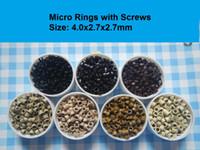 5000pcs Aluminium micro rings links beads with screws thread...