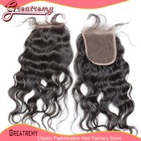 Top Indian Remy Human Hair Nature Wave Lace Frontal Closure ...