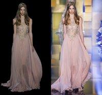 Elie Saab Dresses 2016 New Blush Pink Lace Applique Evening ...