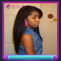 With love hair free ship Peruvian virgin hair human hair wig...