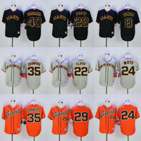 2016 Mens San Francisco Giants #8 Hunter Pence #35 Brandon C...