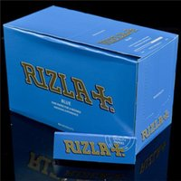 RIZLA Blue Natural Unrefined Cigarette Rolling Paper Quality...