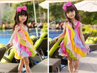 2015 new high quality Sweet rainbow spell color children&#03...