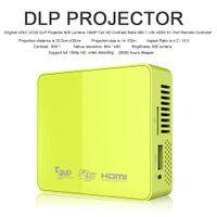 UNIC UC50 Proiettore DLP Multimedia Home Theater Full HD 1080P USB SD AV HDMI supporto MOV AVI MP4 WMA WAV con il regolatore a distanza V1728