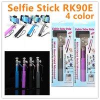 Extendable selfie Monopod Cable RK90E Selfie Stick + Rear mi...