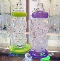New Fab Egg Bébé Bottle Oil Rigs bongs en verre de pipe d'eau avec le diffuseur de trous d'épingle avec 14.5mm joint solides robinets de dab de verre de qualité