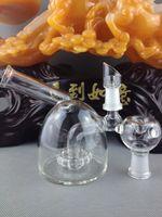 Mini barbotage rigide de pétrole verre concentré tuyau d'eau deux fonctions bong de verre avec des ongles de verre Nouveau Design
