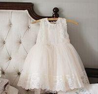 baby girl kids lace dress flower floral tutu dress pettiskir...