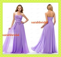 SSJ New Light Purple Prom Dresses 2015 Cheap Chiffon Crystal...