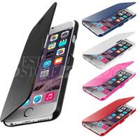 Nouveau Arrivé Flip Cover MAGNETIC PU cuir cas pour iphone 6 6S 6 plus 4,7 5,5 iPhone6 antichoc Protector DHL gratuit