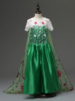 Big size 110- 150cm Frozen Fever Dress Elsa Dress Birthday Pa...