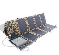Высокоэффективный 28W 18V Складная панель солнечных батарей Портативный Двойной выход Солнечное зарядное устройство (5V USB + 18V DC порт)
