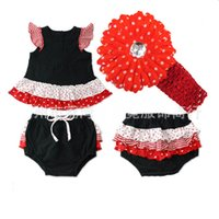 baby girl infant toddler 2pc Christmas outfits set crochet l...