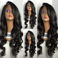 Lace Front Human Hair Wigs Wavy 100% Unprocessed Brazilian 3...