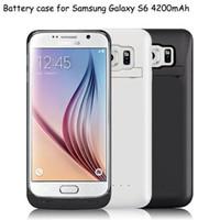 Новый 4200mAh S6 S6 край портативный аккумулятор резервного зарядное устройство внешнего резервного банка питания для Samsung Galaxy S6 G9200 S6 Край G9250 Black White