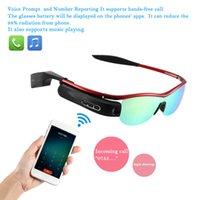 Bluetooth intelligenti Occhiali con auricolare senza fili Bluetooth 4.0 occhiali da sole polarizzati Video Camera Recorder per iPhone 6S V1863