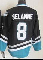 2015Ducks #8 Teemu Selanne Black CCM Throwback Hockey Jersey...