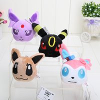 Anime Cartoon Poke Eevee Plush Toys Soft Stuffed Animal Doll...