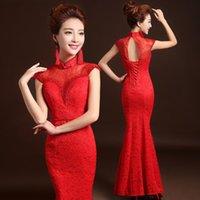 2015 Chinese Long Cheongsam Wedding dress for women Backless...