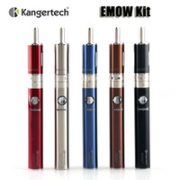 Authentic kit Kanger EMOW Starter VV EMOW 1300mAh batterie kangertech amélioré 1.8ml double bobine Aerotank Mow atomiseur 5 couleurs