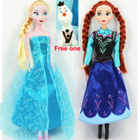 Hot Frozen Elsa Anna Action Figures With Free Olaf PVC Doll ...