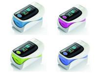 2015 Nueva Actualización estrenar dedo oxímetro de pulso SPO2 del pulso del monitor de oxígeno sonido de alarma diferentes Direcciones Display con menor