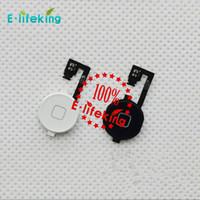 Pour iphone 4 iPhone 4S Accueil Bouton de rechange Flex câble de retour clés ruban Pièces de câble avec la livraison gratuite