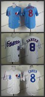 montreal expos #8 gary carter Cheap Wholesales Baseball Jers...
