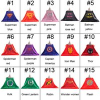 15color double layer kids cosplay Superhero Capes, Children ...