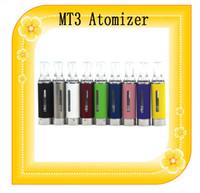 MT3 atomizador Clearomizer Eleactronic cigarrillo 2,0 ml Reconstruible MT3 Clearomizer BBC bobina sin que se escapa para el ego EVOD Vision Spinner Kit 2 MT3