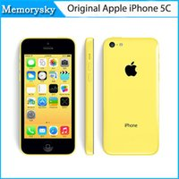 Original Remodelado iPhone de Apple 5C Desbloqueado Teléfono Móvil 3G WCDMA 16GB 32GB Dual Core IOS 8 Retina 1GB 8MP 1080P GPS Smartphone 002849