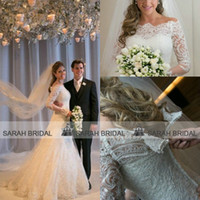 Vestidos De Noiva 2014 romantic Appliques Lace Wedding Dress...