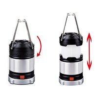 185 lumen per campeggio lampada estensibile Outdoor Lanterna di emergenza ricaricabile LED Tenda di luce con USB gancio Y0118