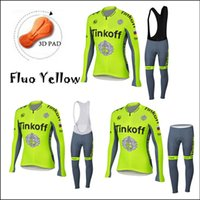 2016 New Tinkoff Saxo Cycling Jerseys Long Sleeve With 3D Ge...
