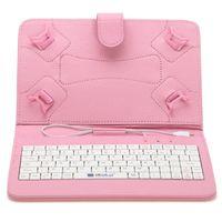 US Stock! 7 pouces Mirco USB Keyboard Case en cuir PU pliable pliant Folio Stand cas Smart Cover pour 7 pouces Tablet PC