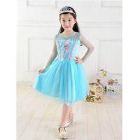 2014 Fashion New Girls Frozen Dress Children Frozen Princess...