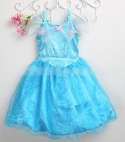 Cinderella Dresses Girl Dress Summer Girls Lace Bow Tulle Bu...