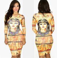 As mulheres egípcias antigas frias quentes dos faraóis da mola nova vestem o vestido de vestido Longo-sleeved europeu da princesa européia e americana do vestido # 1